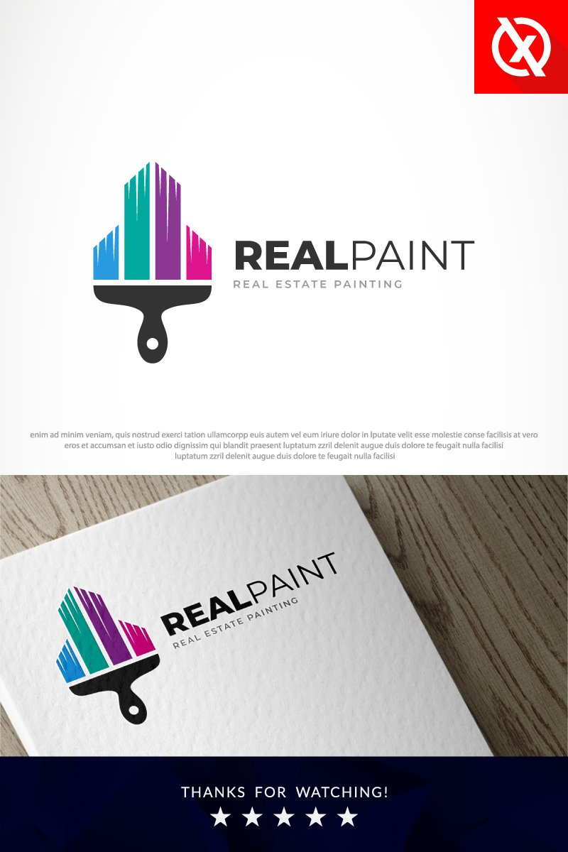 Real Estate Painting Logo Template