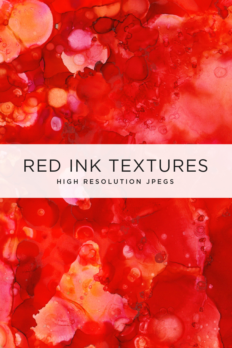 Red Ink Textures Pattern
