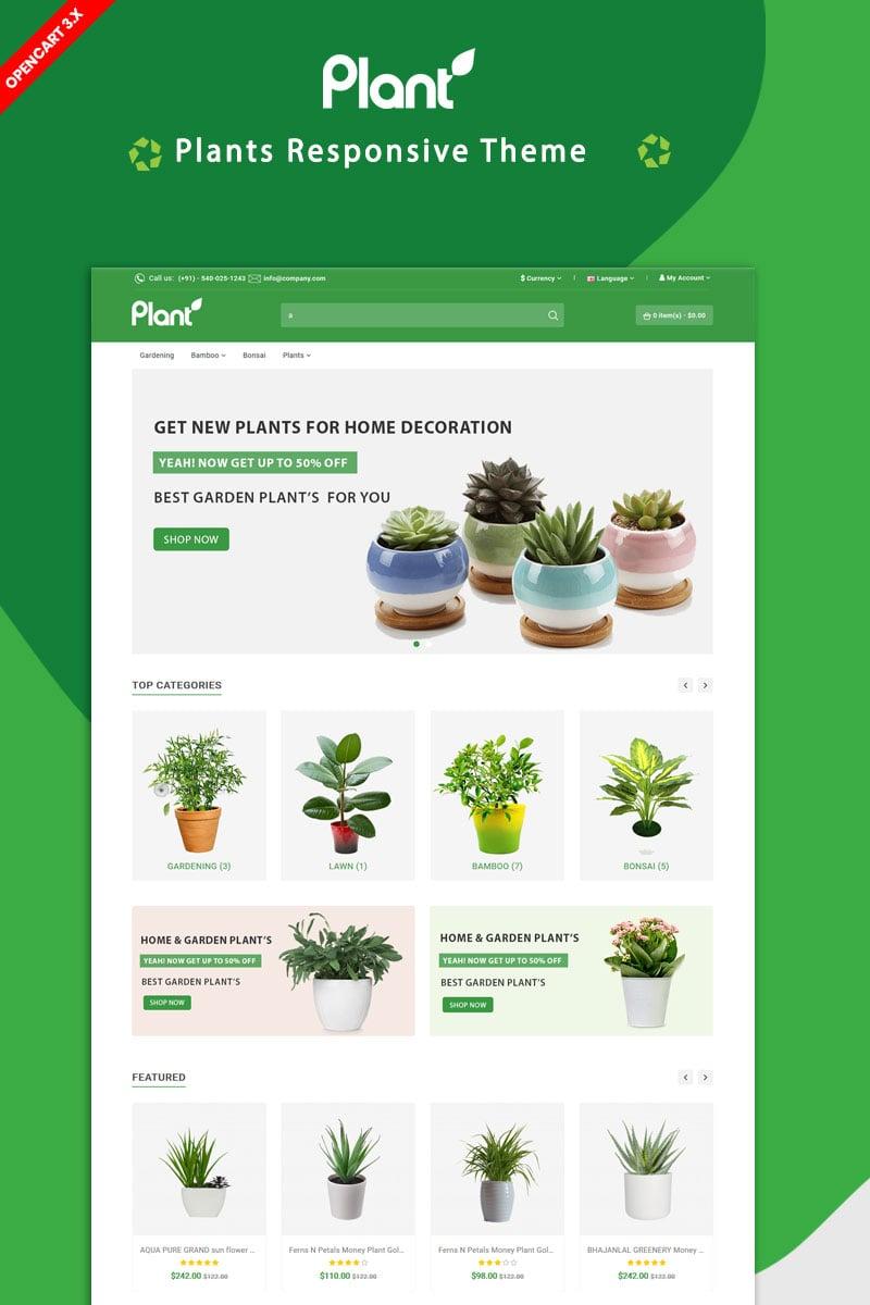 Responsive Plant Opencart #87278