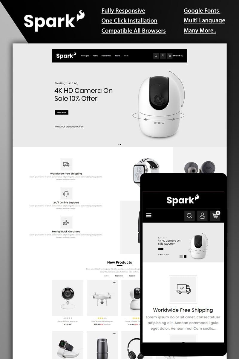 """Responzivní OpenCart šablona """"Spark - Electronic Store"""" #87258"""