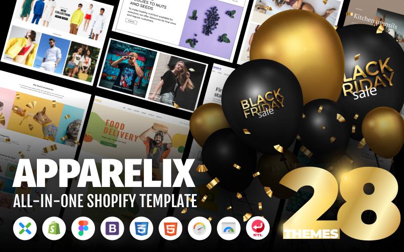 Reszponzív Apparelix - Clean Multipurpose Shopify sablon 87247