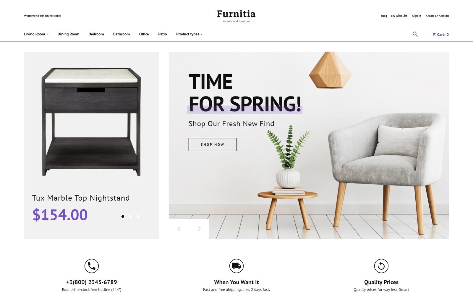 Reszponzív Furnitia - Magento Furniture Store Theme Magento sablon 87251