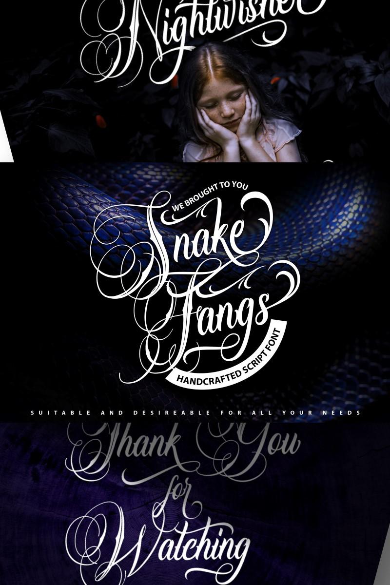 Snake Fangs | Handcrafted Script Font