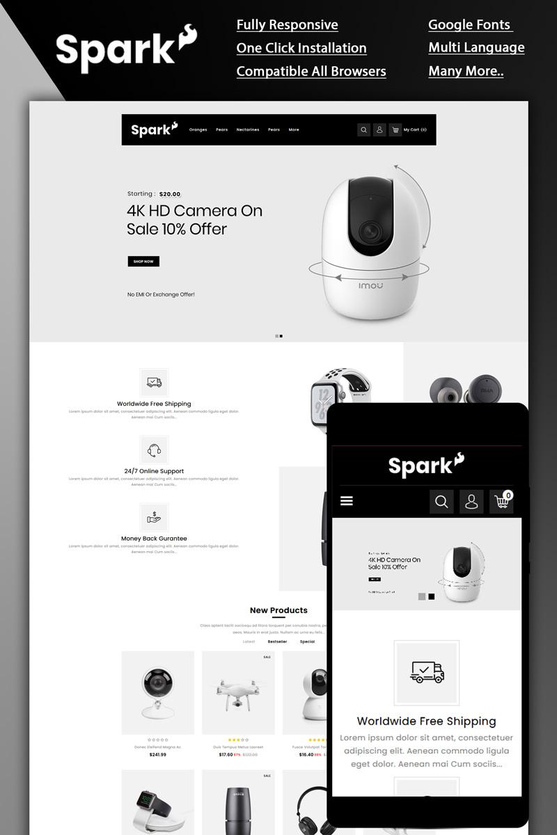 """Spark - Electronic Store"" - адаптивний OpenCart шаблон №87258"