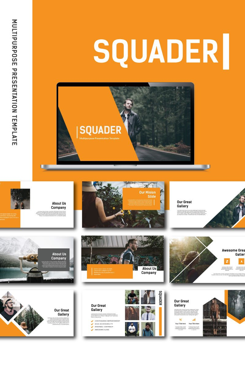 Squader Template PowerPoint №87225
