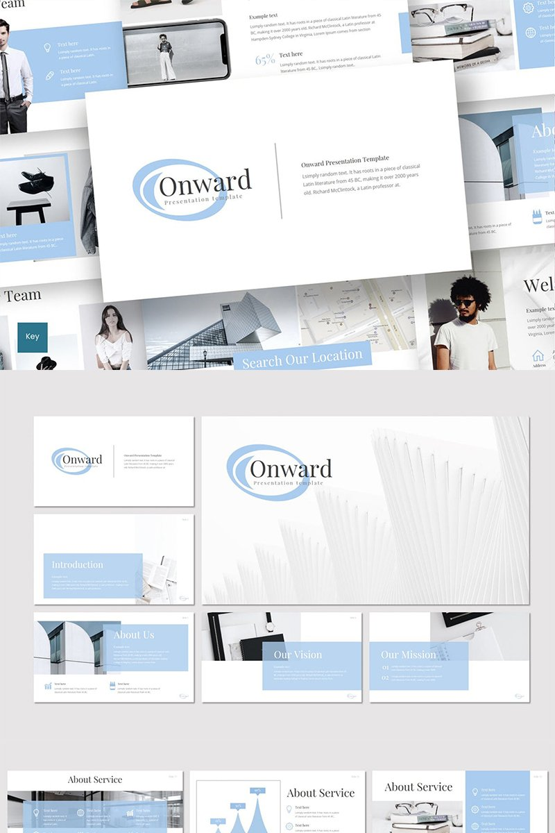"Template Keynote #87265 ""Onward"""