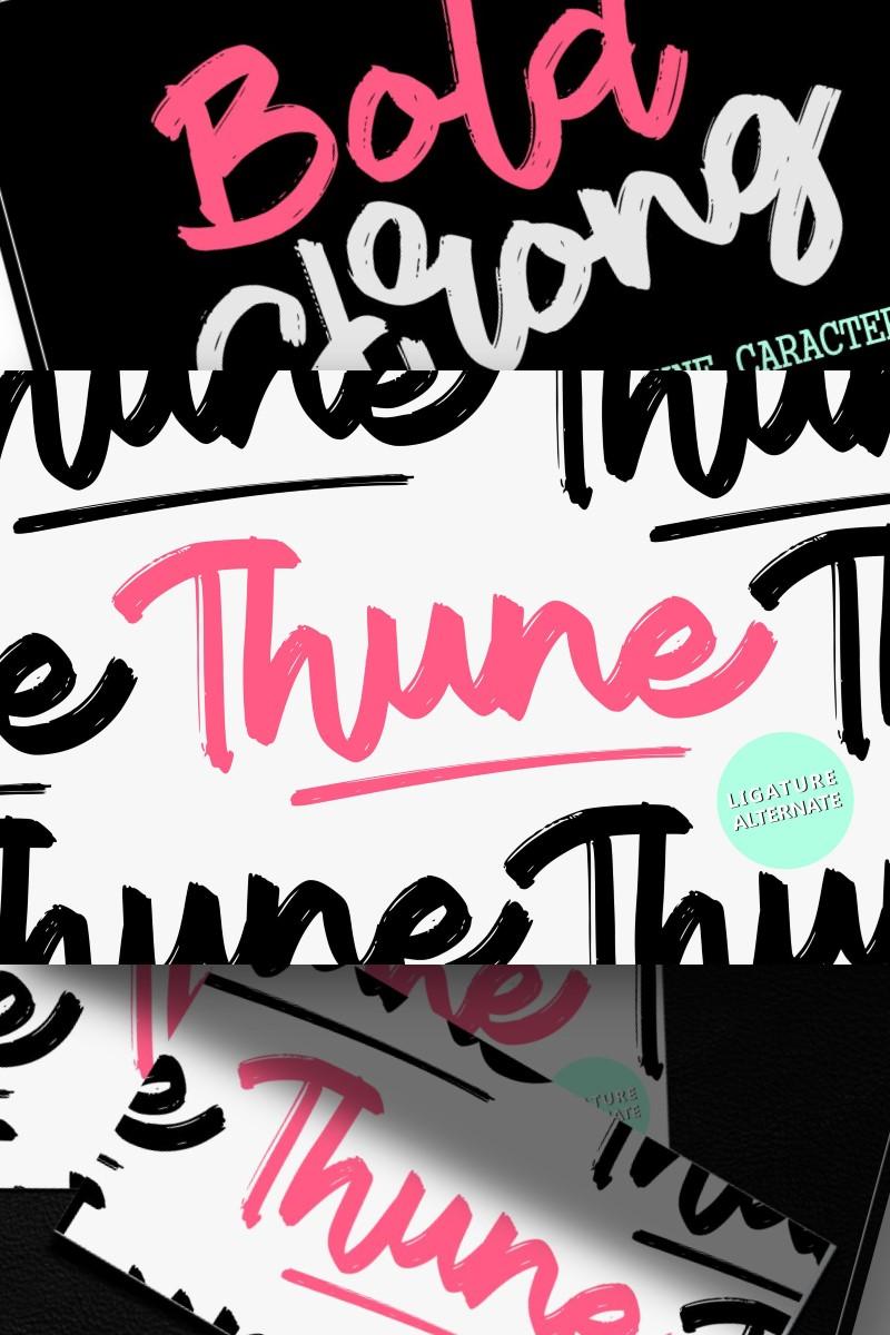 Thune | Bold Brush Font