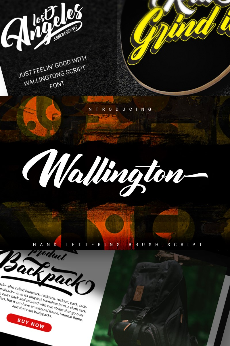 Wallington | Hand Lettering Brush Script Font