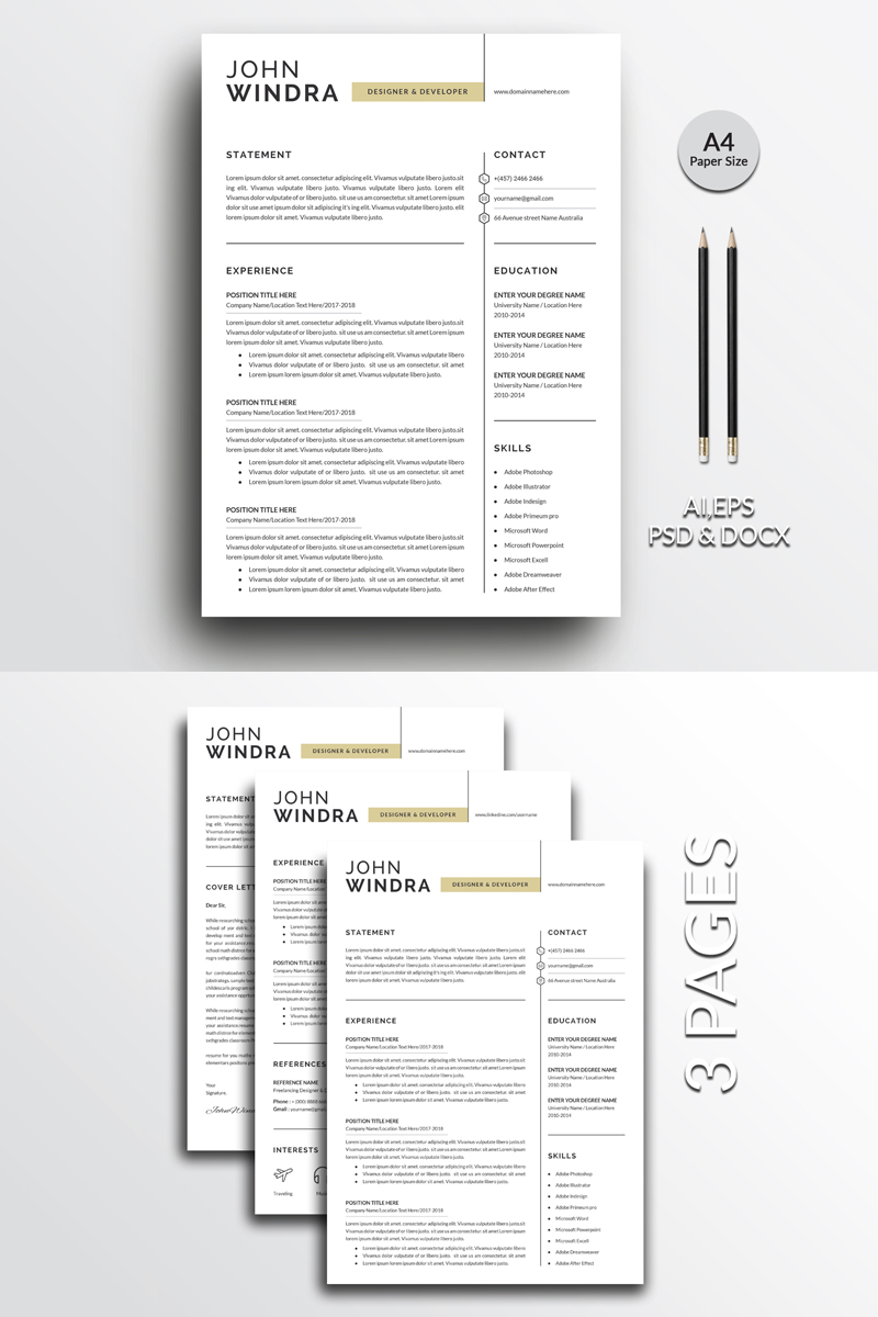 Windra Clean Resume Template