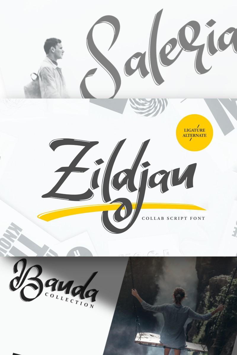 """Zildjan | Script Brush"" - Шрифт №87213"