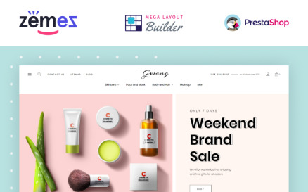 Gwang - Korean Cosmetics Ecommerce PrestaShop Theme