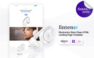 Lintense Headphones - Electronics Store Clean HTML Landing Page Template