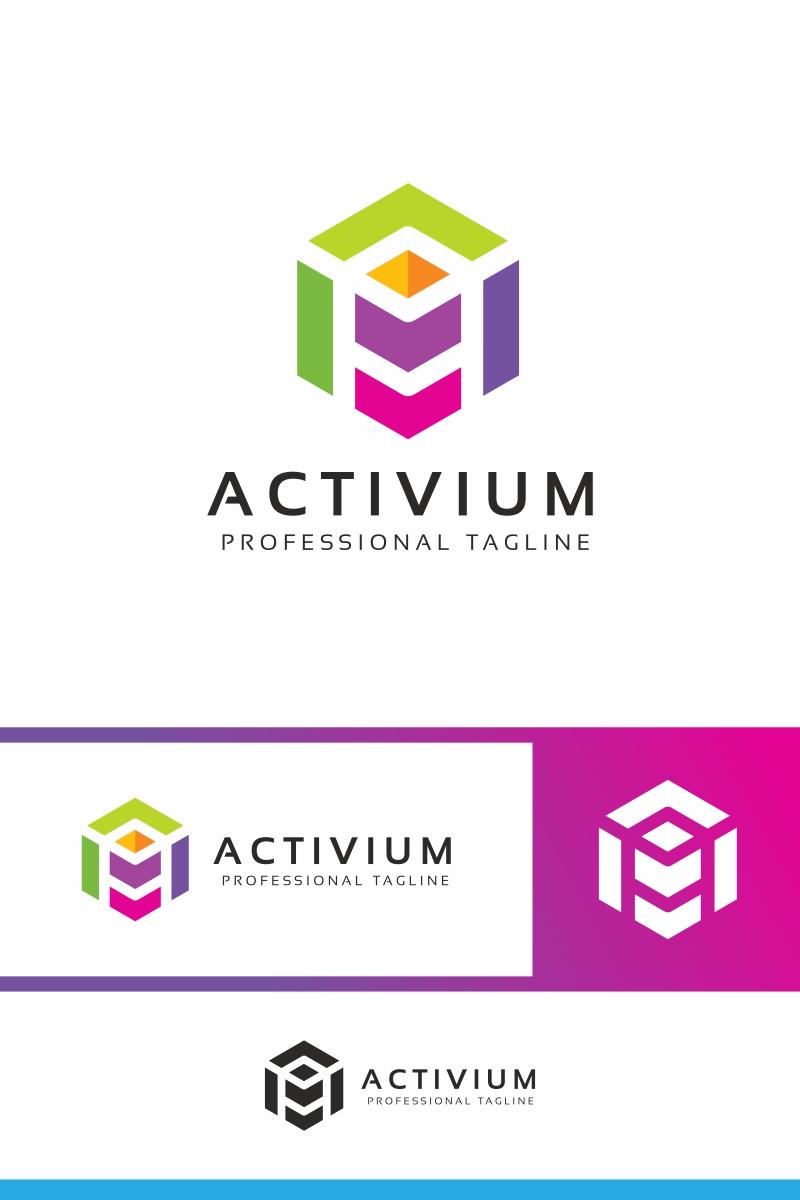 Activium- A Letter Unika logotyp mall #87349