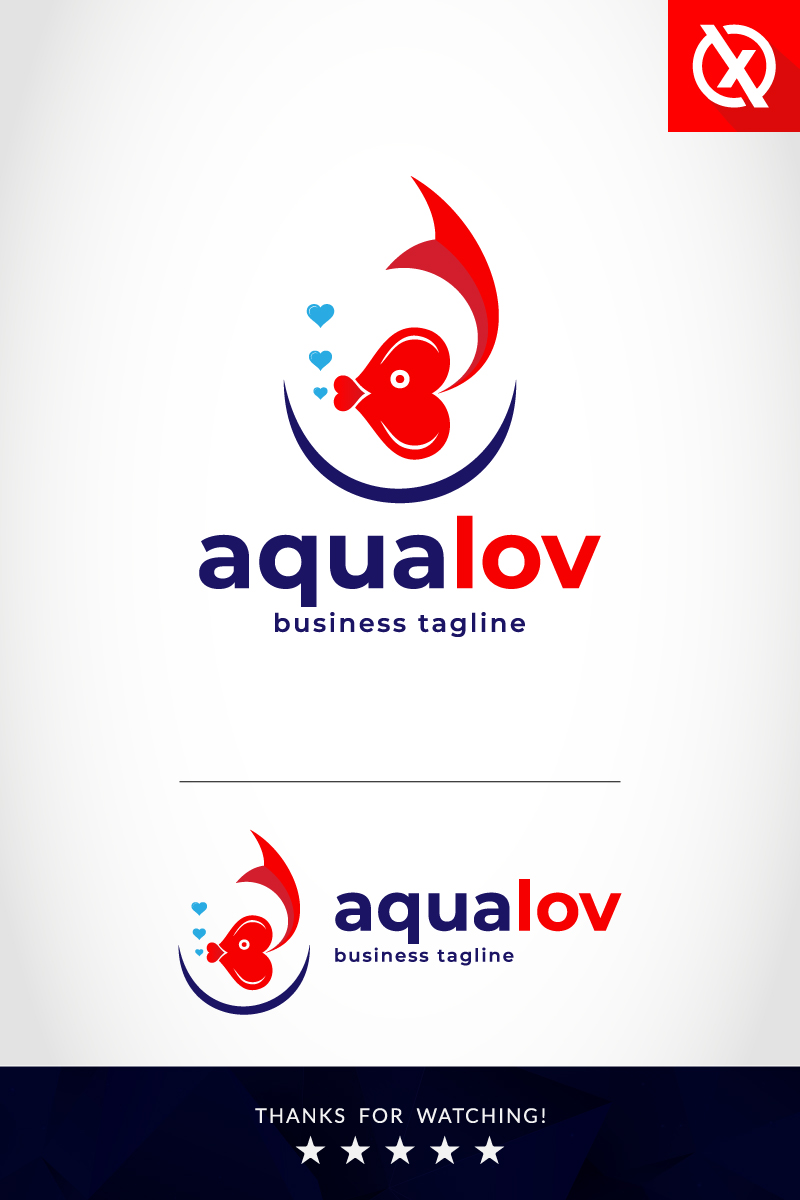 Aqualov Logo Template