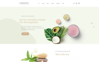 Aromatica - Candles Store Multipage HTML Website Template