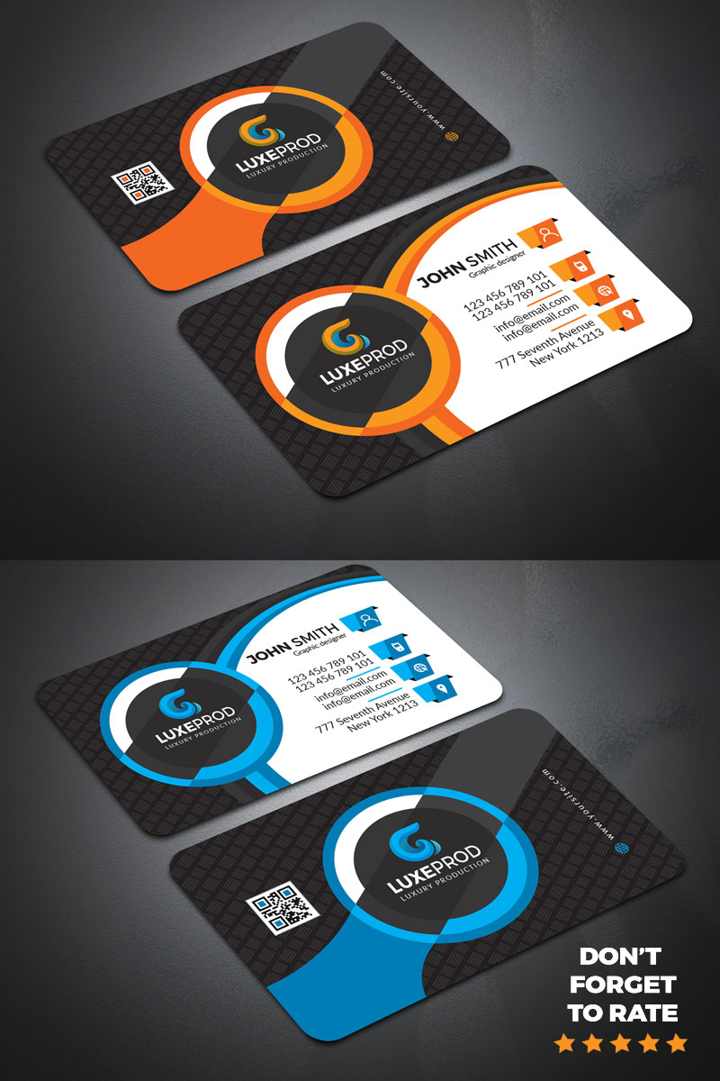 Awesome professional business Card Template de Identidade Corporativa №87380