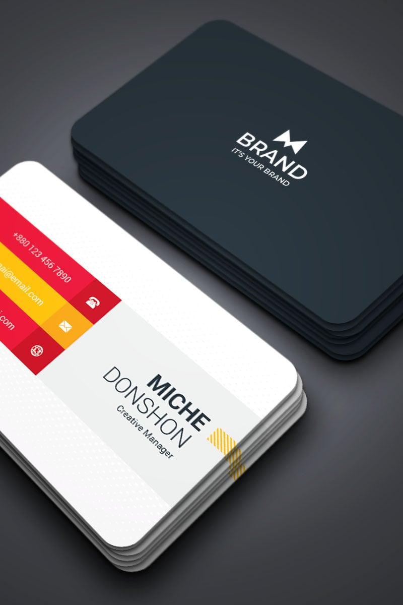 """Brand - Mix Copporate Business Card"" Bedrijfsidentiteit template №87308"