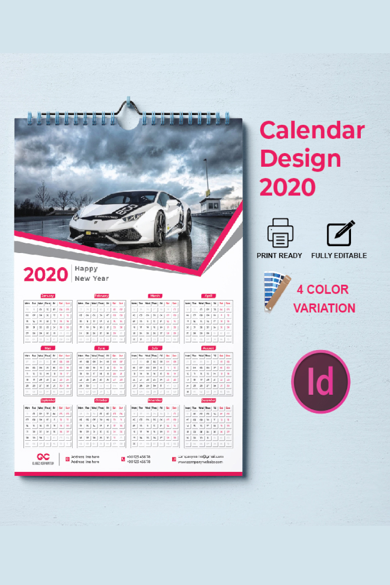 Calendar Design 2020 Corporate Identity Template