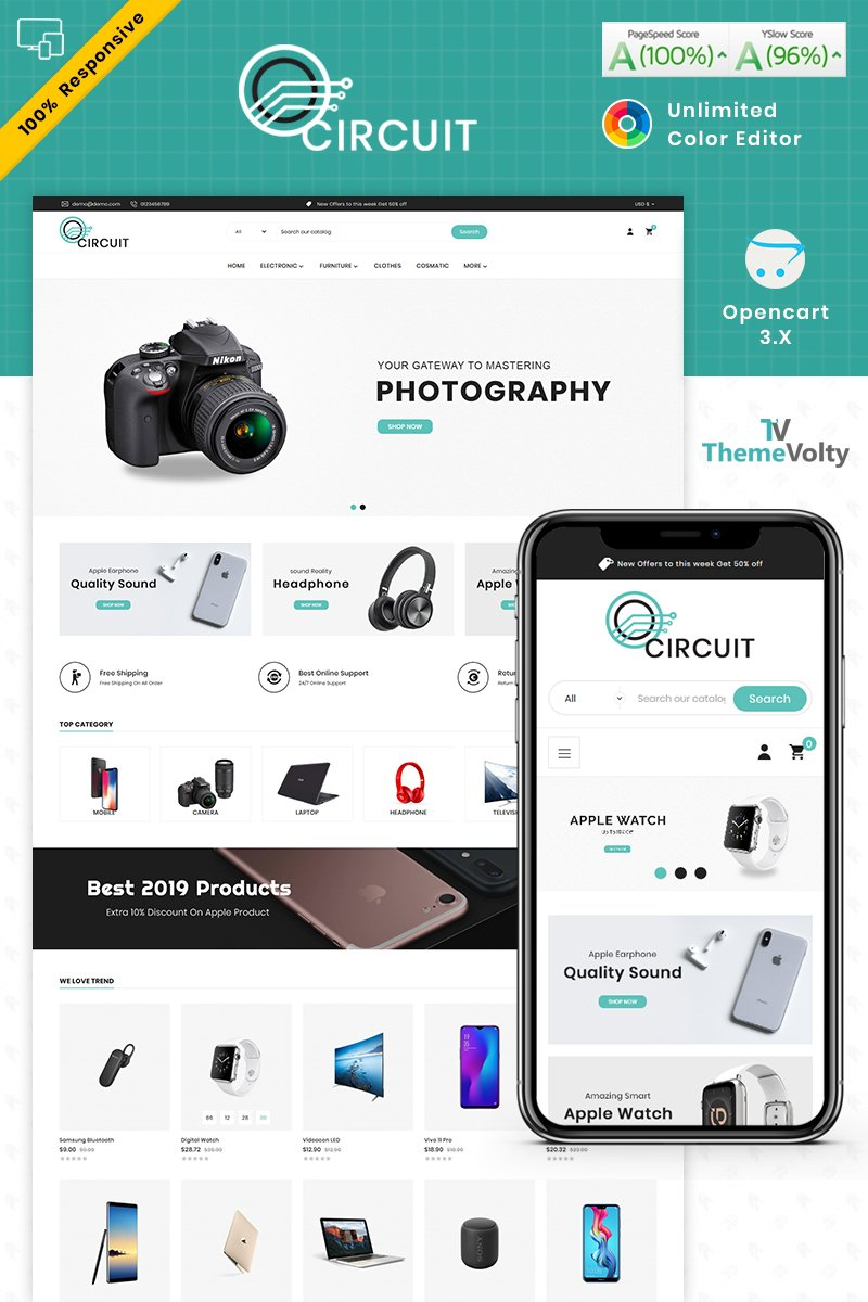 Circuit - Electronics Store OpenCart Template