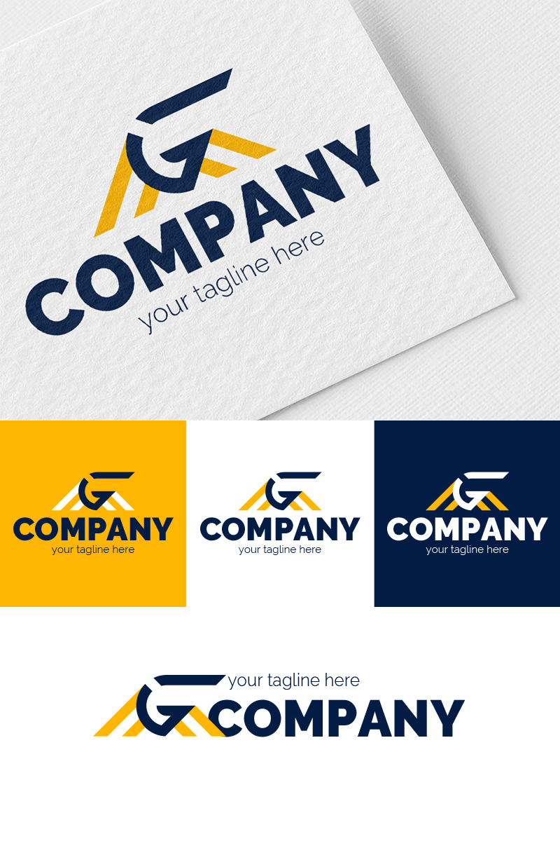 Dynamic letter G In The Rays Template de Logotipo №87347