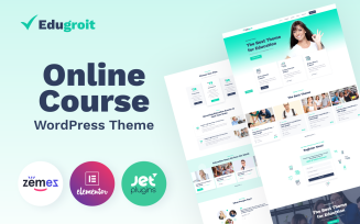 Edugroit - Online Course Website Template WordPress Theme