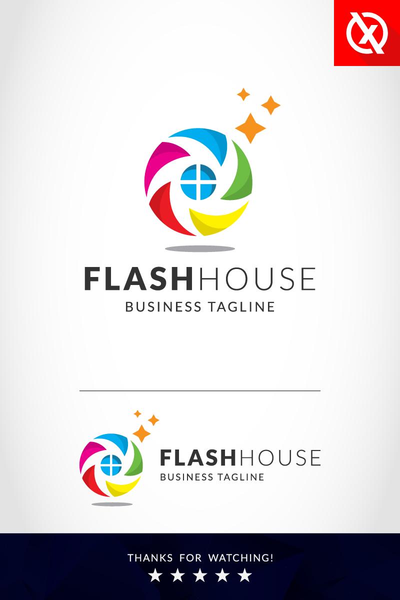 """Flash House Photography"" Premium Logo template №87355"