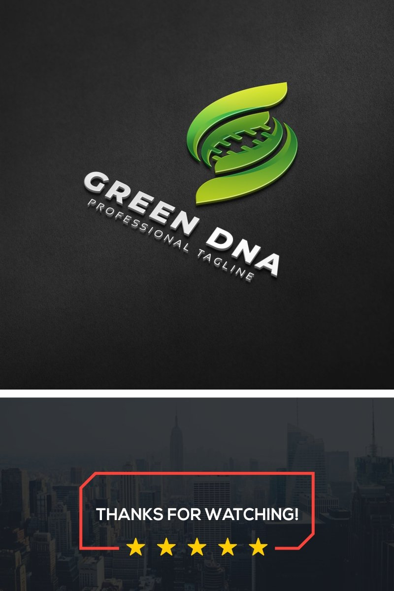Green Dna Logo Template
