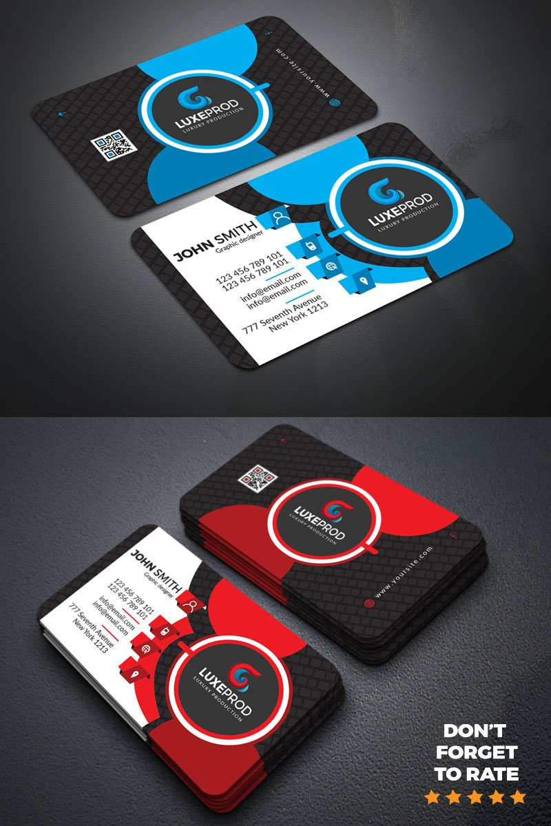 John Smith business card Corporate Identity Template