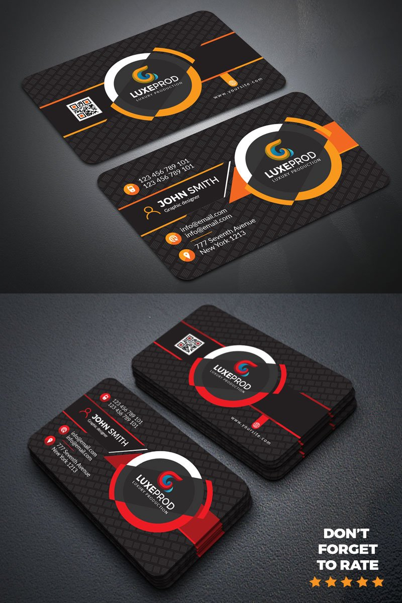 John Smith Simple & Modern Business Card Corporate Identity Template