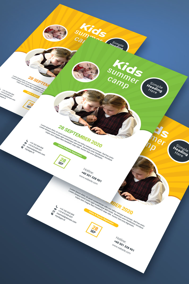 """""""Kids Flyer"""" - Шаблон фірмового стилю №87305"""