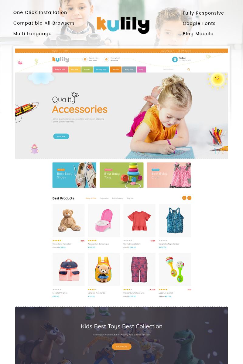 """Kulily - Kids Store"" 响应式PrestaShop模板 #87344"