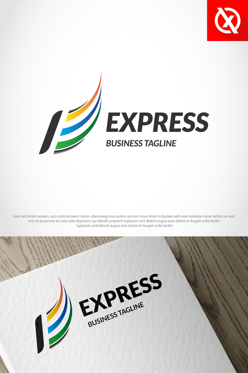 """Letter E Express"" modèle logo Premium #87354"