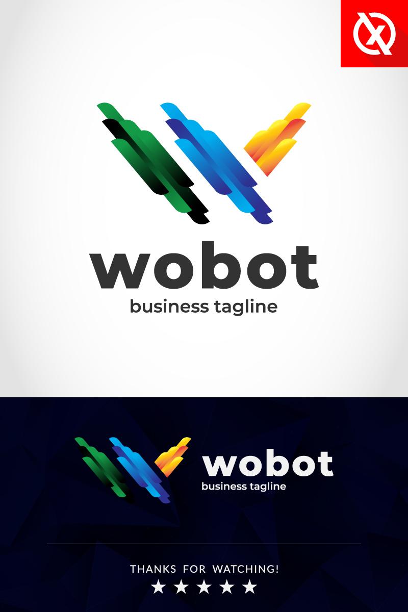 """Luxusní Šablona logotypu """"Robotic Letter W Website"""" #87360"""