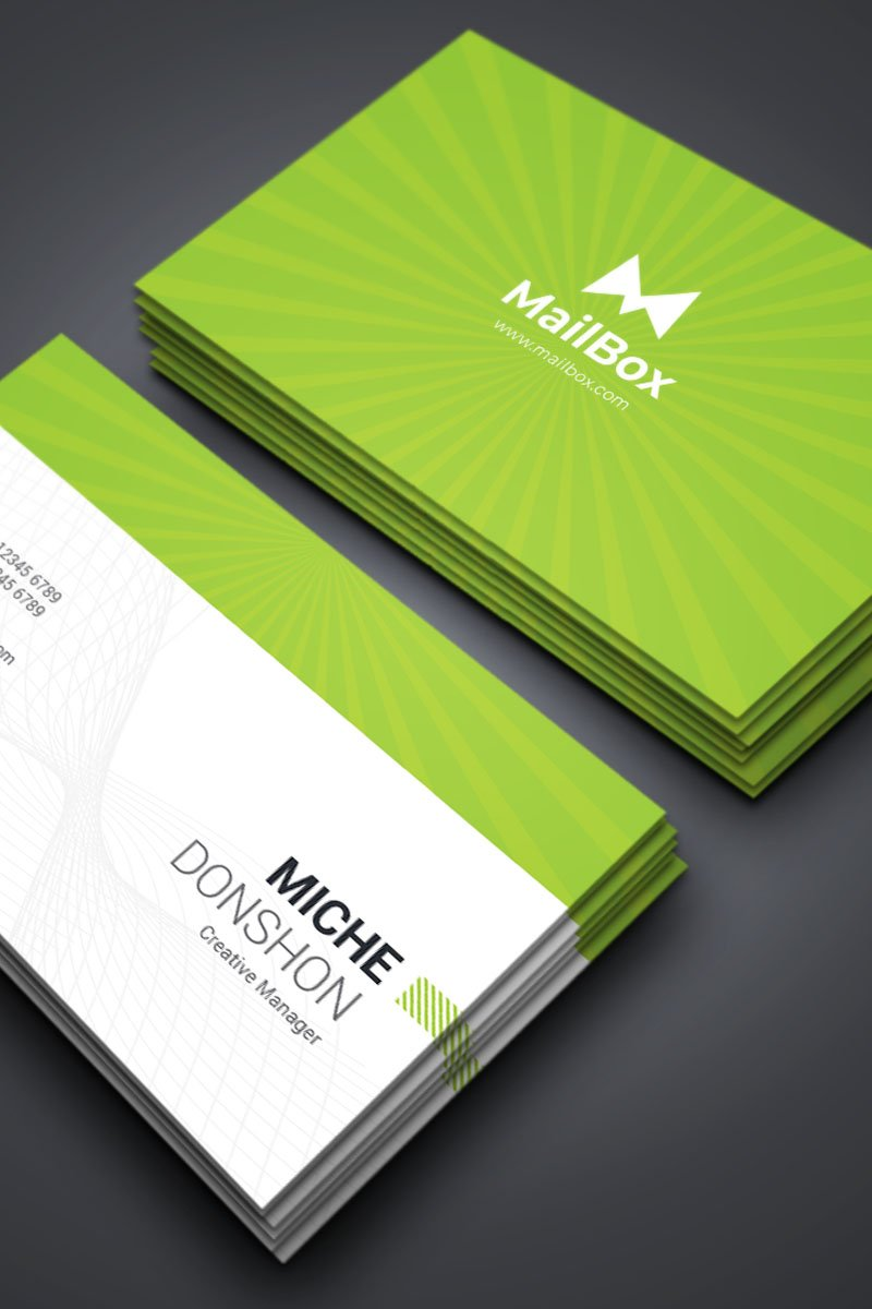 Miche Donshon - Business Card Template de Identidade Corporativa №87311