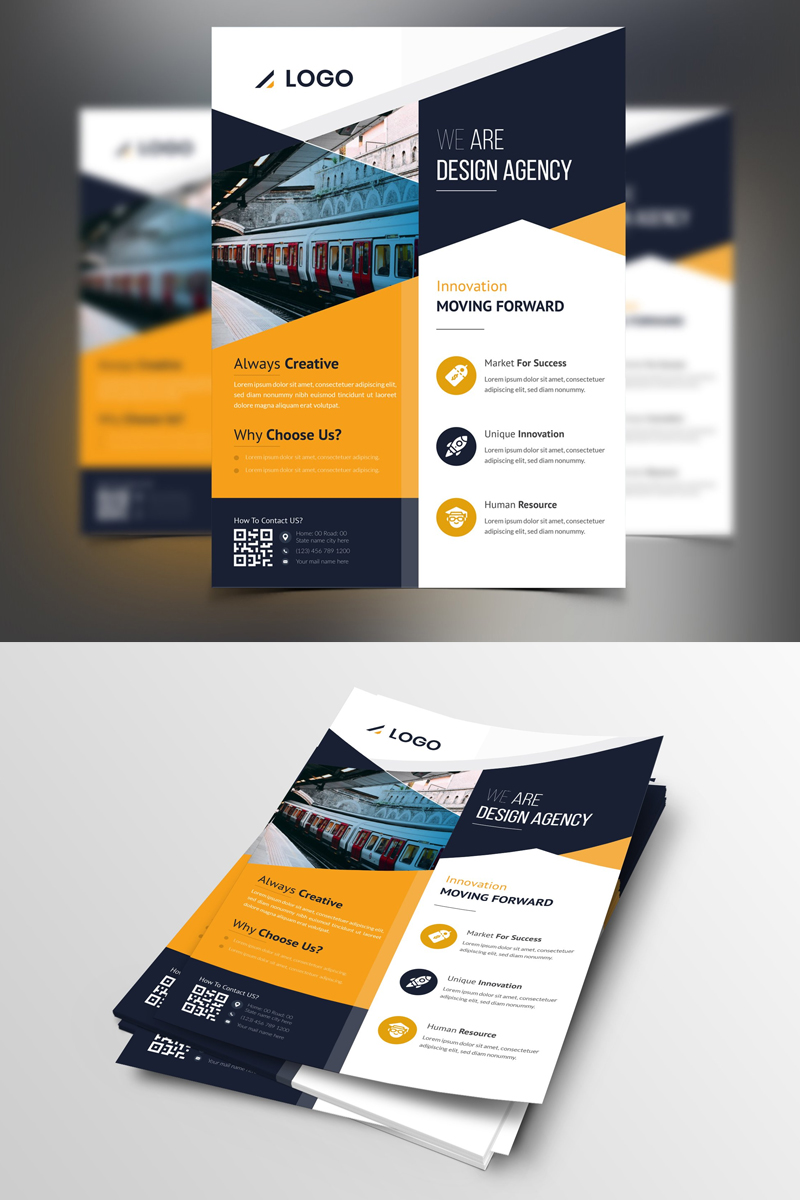 """Mipido-Design-Agency-Flyer"" Bedrijfsidentiteit template №87379"