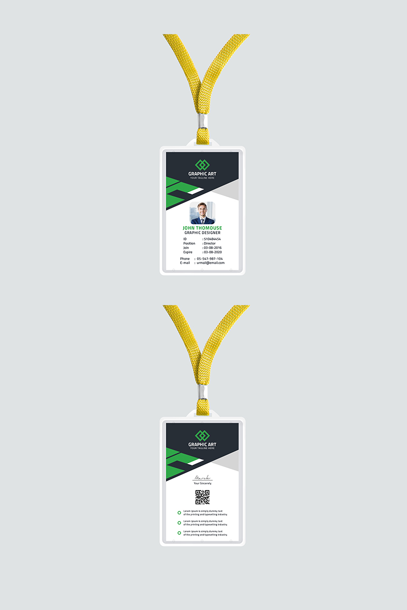 """Office id card"" design d'Entreprise  #87313"
