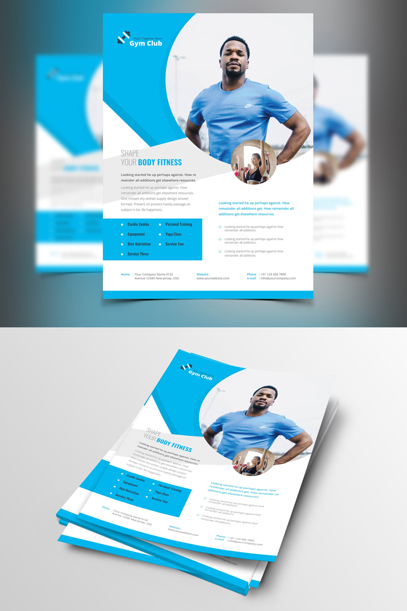 """Palomas-Shape-Your-Body-Gym-Flyer"" Bedrijfsidentiteit template №87374"