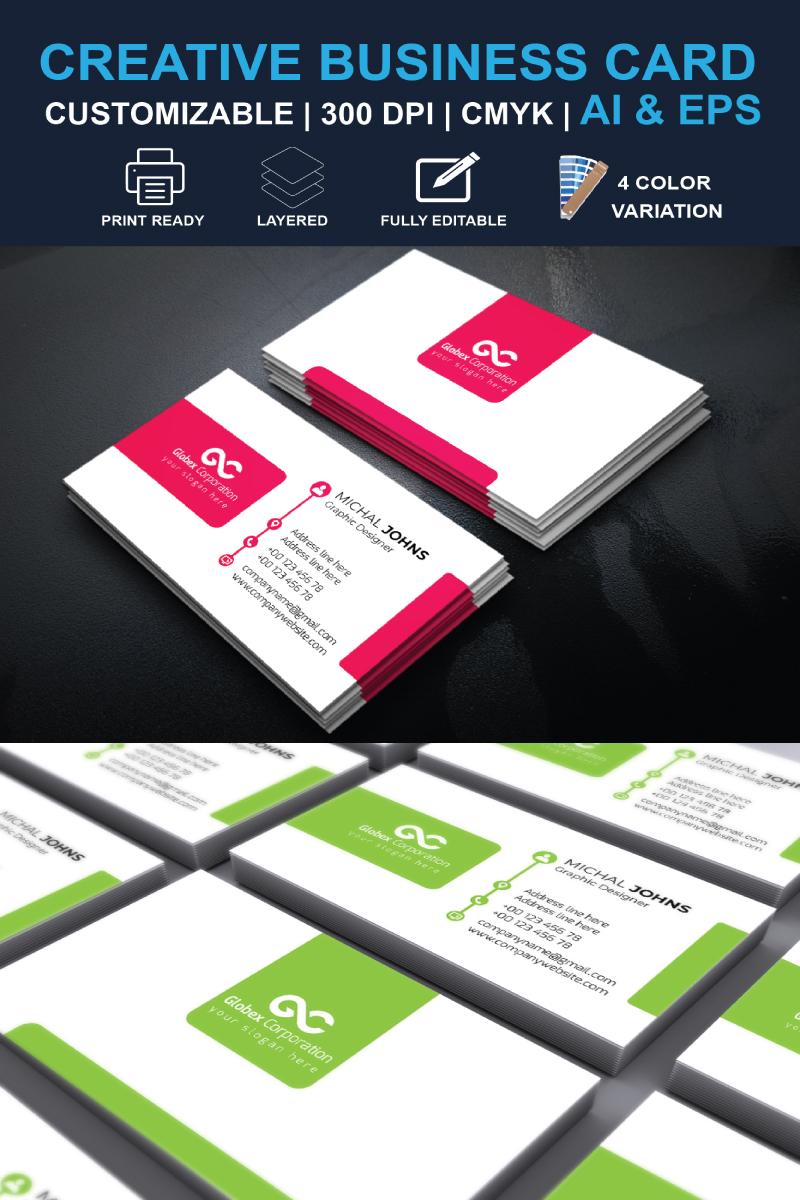 """Plantilla De Identidad Corporativa """"Business Card"""" #87300"""
