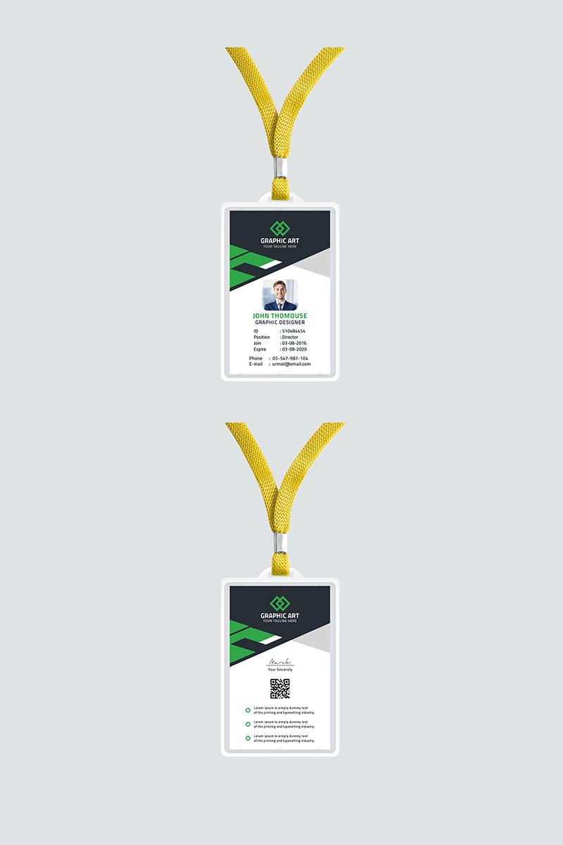 """Plantilla De Identidad Corporativa """"Office id card"""" #87313"""