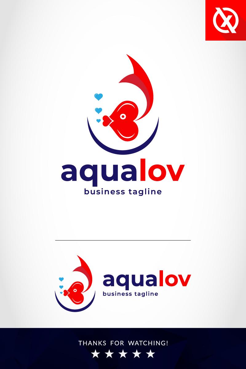 Premium Aqualov Unika logotyp mall #87356
