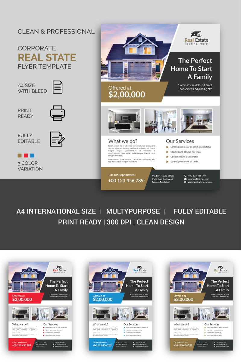 Real State Flyer Corporate identity-mall #87312