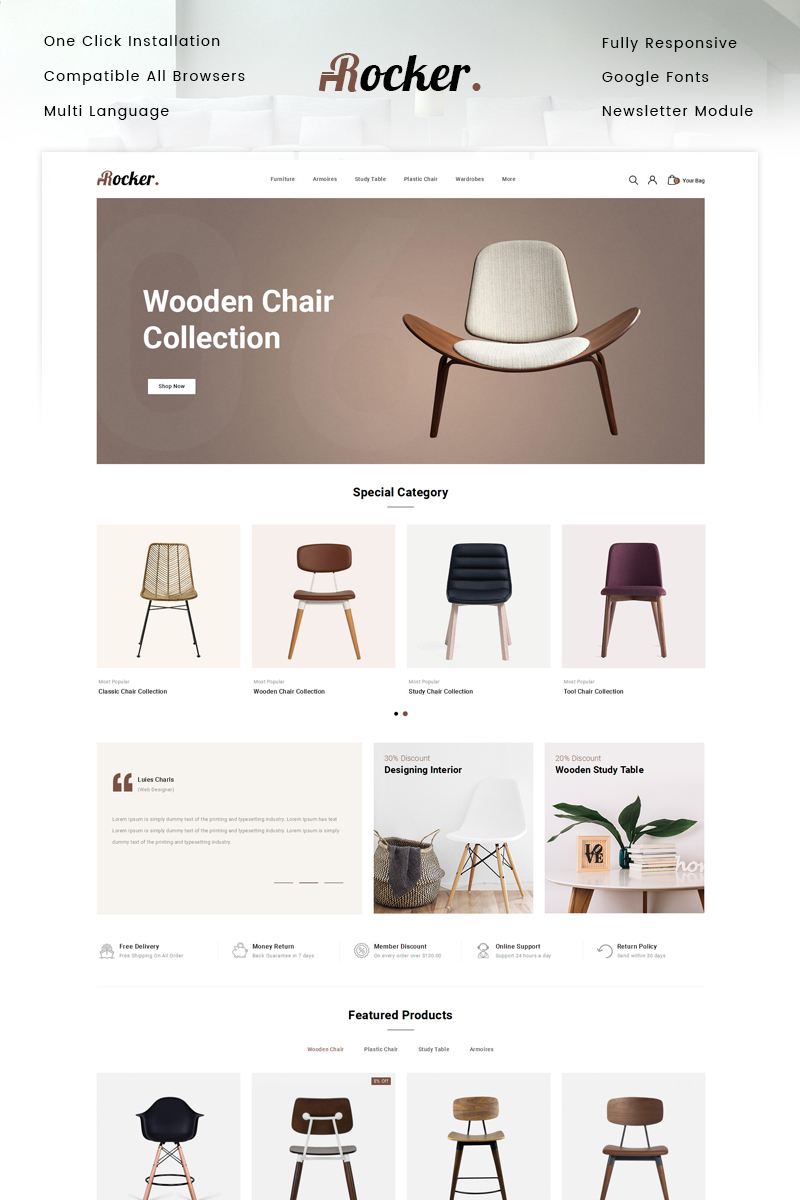 Responsive Rocker - Furniture Store Opencart #87345