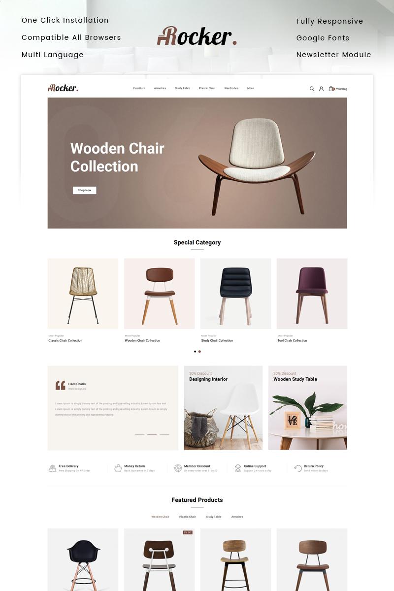 "Responzivní OpenCart šablona ""Rocker - Furniture Store"" #87345"