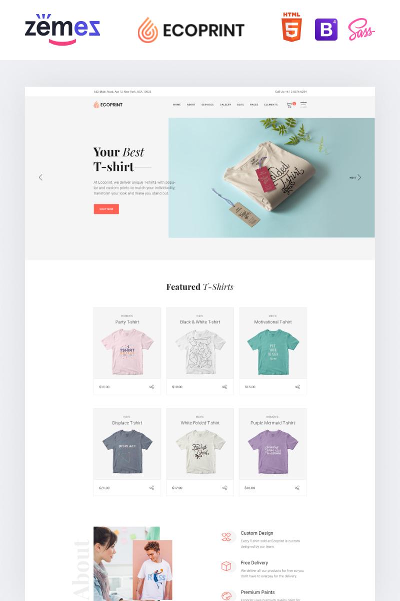 """Responzivní Šablona webových stránek """"Ecoprint - Print Store Multipage Clean HTML"""" #87321"""