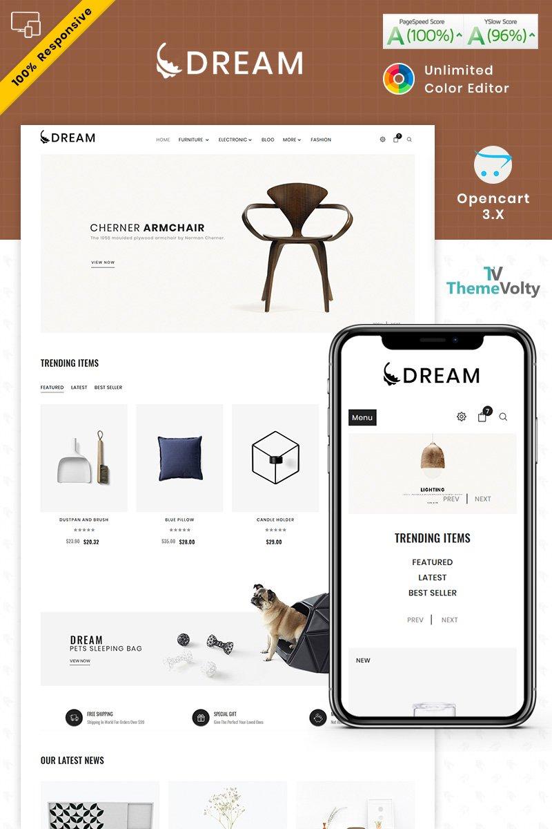 Reszponzív Dream Furniture OpenCart sablon 87341