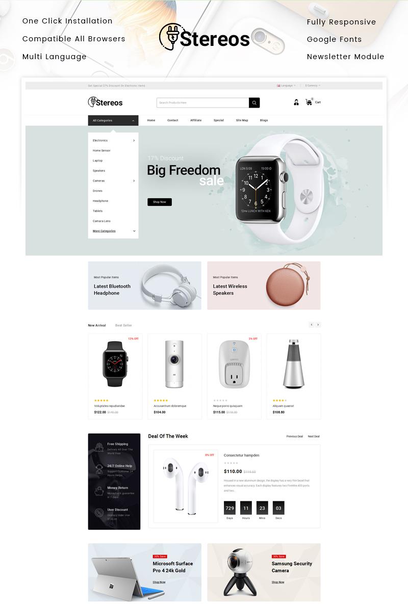 Reszponzív Stereos - Electronics Store OpenCart sablon 87343
