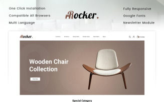 Rocker - Furniture Store OpenCart Template