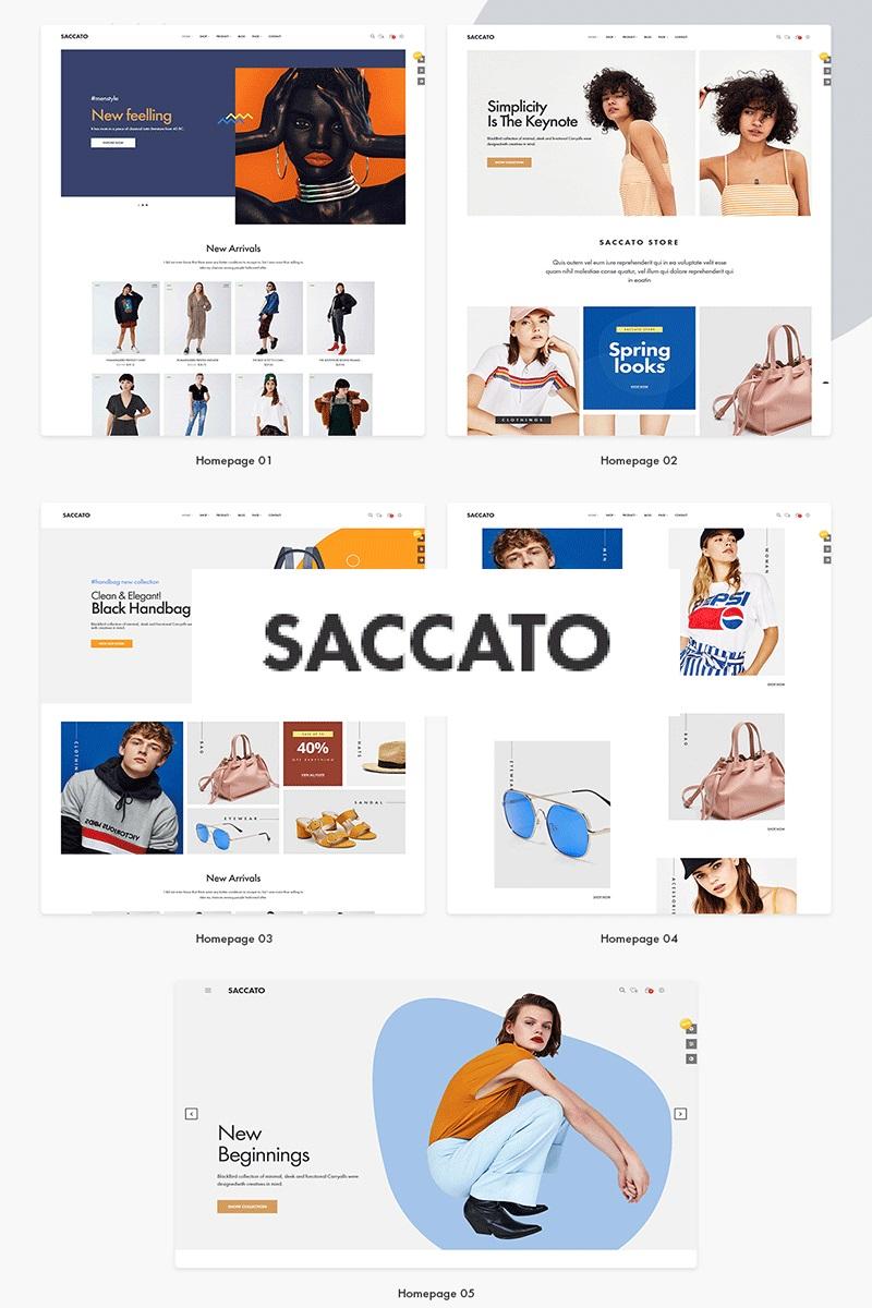 """Saccato Fashion Store"" thème PrestaShop adaptatif #87327 - screenshot"