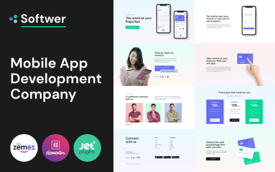 Softwer - Mobile App Development Company Website Template