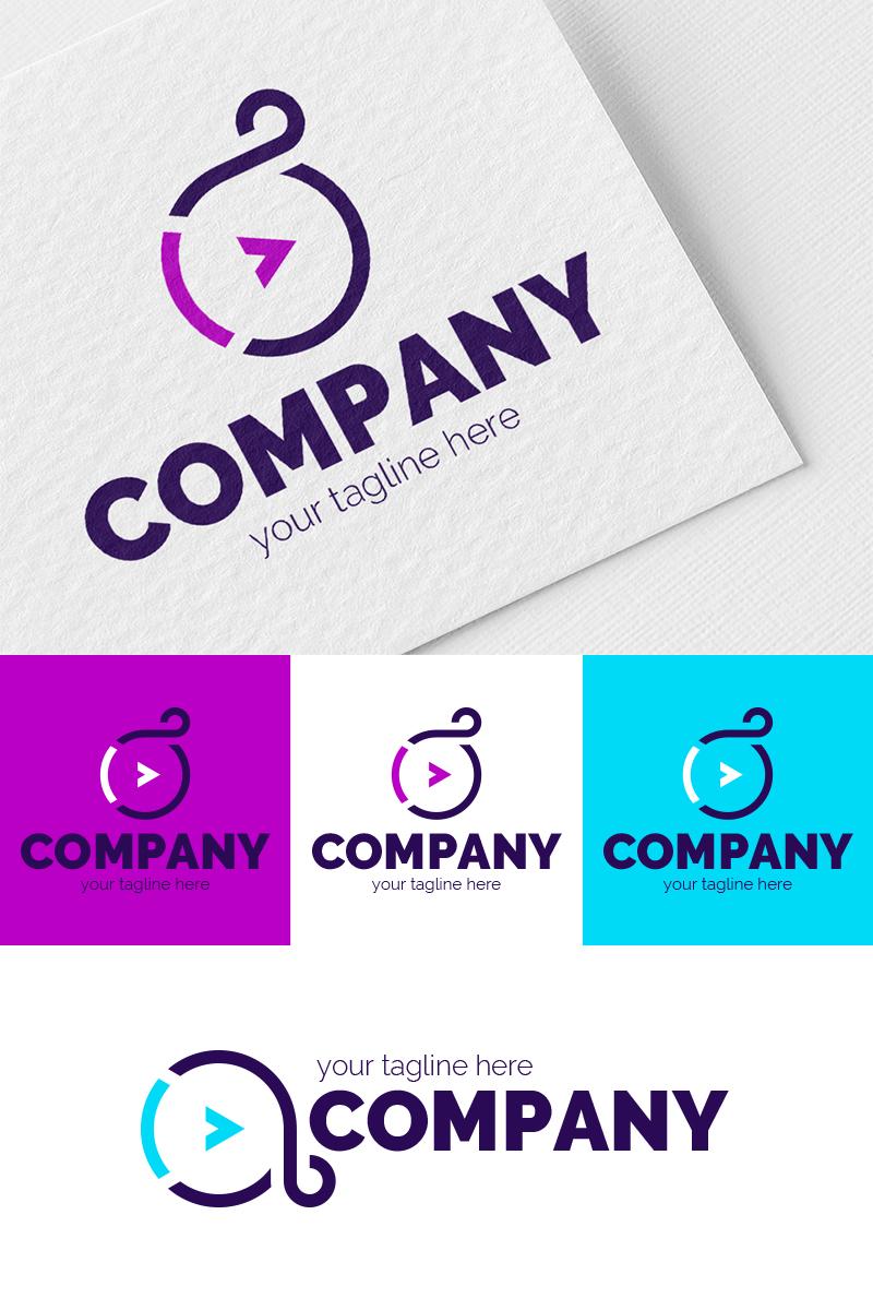 Szablon Logo A + Infinity + Play #87348